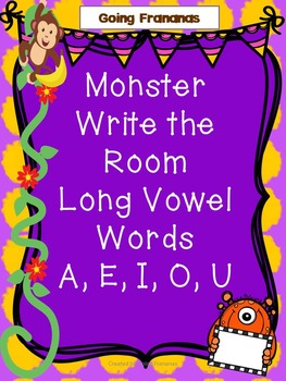Monster Themed Write the Room - Long Vowels