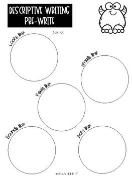 Monster Themed Writing Activities {Printables}