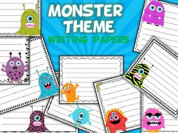 Monster Themed Writing Paper - Literacy - Writing Centers