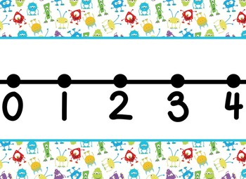 Monster Themed number line 0-100