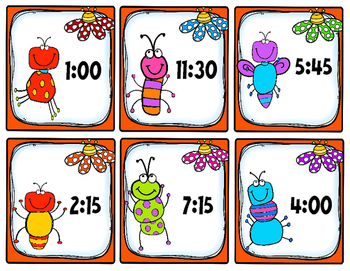 Telling Time Game: Telling Time to the Nearest 15 Min - 30 Sets of Task Cards!