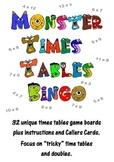 Monster Times Tables Bingo