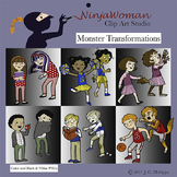 Monster Transformation Clip Art
