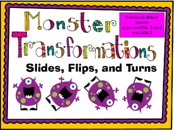 monster transformations slides flips and turns by bmore teacher. Black Bedroom Furniture Sets. Home Design Ideas