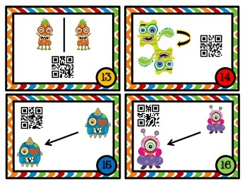 Monster Transformations - With & Without QR Code Fun-  8.G.3