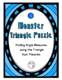 Monster Triangle Puzzle - Angle Measures using the Triangl