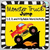 Monster Truck Syllable Activity- 1, 2, 3, and 4 Syllable Words