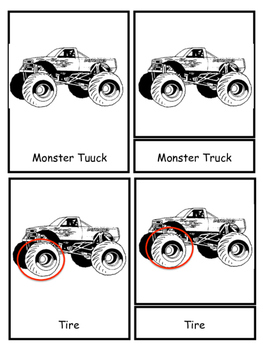 Monster Truck 3 Part Cards