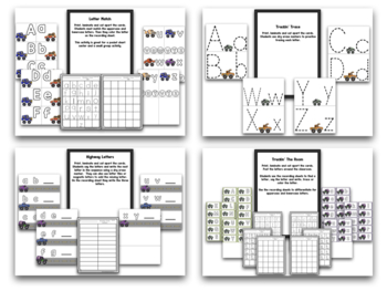 ABCs And Letter Recognition!  Monster Truck ABC!