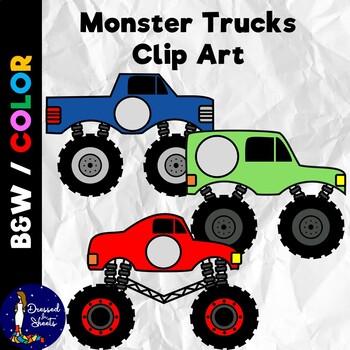 Monster Truck Clip Art By Dressed In Sheets Teachers Pay Teachers