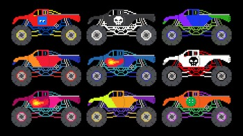 Monster Truck Counting - 1 to 10