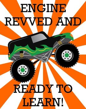Monster Truck Printable - Engine revved and ready to learn!