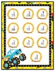 Monster Truck Facts File Folder Game Single Digit Addition to 15