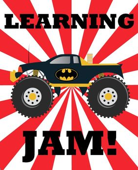 Monster Truck Printable - Learning Jam!