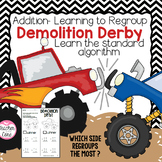 Monster Truck Mania & Demolition Derby {Double Digit Addition}