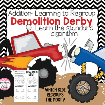 Monster Truck Mania & Demolition Derby {Double Digit Addition}