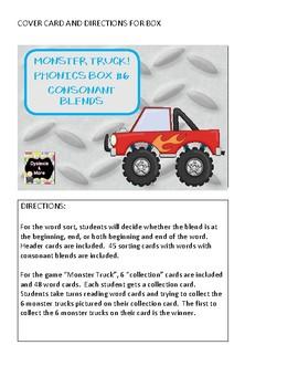 Monster Truck - Phonics Box #6 - Consonant Blends
