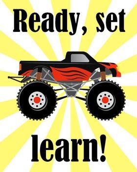 Monster Truck Printable - Ready, set, learn!
