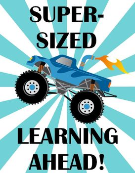 Monster Truck Printable - Super-sized learning ahead!