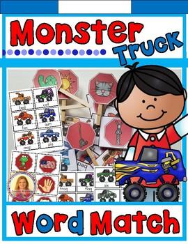 Dollar Deal! CVC, CCVC, & CVCC Words Literacy Center (Monster Truck Themed)