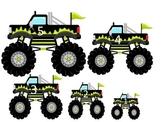 Monster Truck themed Size Sequence preschool edcuational a