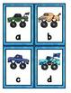 Monster Trucks Alphabet Scavenger Hunt: Upper and Lowercase Letters