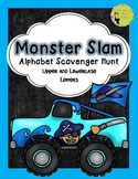 Monster Trucks Alphabet Scavenger Hunt: Upper and Lowercas