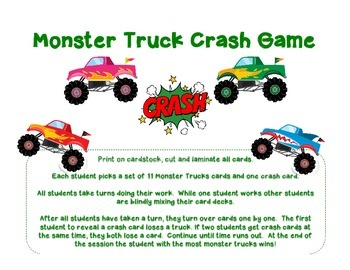 Monster Trucks Bang Game