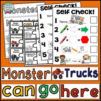 Guided Reading: Level B Monster Truck Sight Word Readers and Activities!