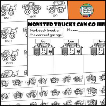 Monster Trucks Reader and Activities