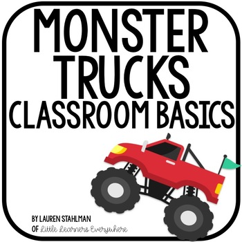 Monster Trucks Classroom Decor