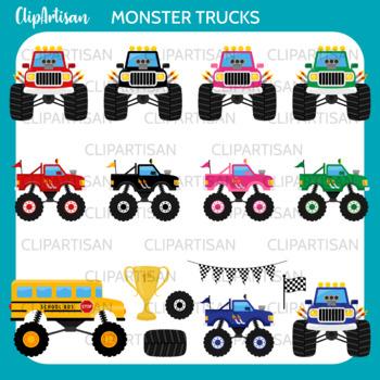 Monster Trucks Clip Art By Clipartisan Teachers Pay Teachers