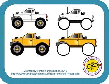 Monster Trucks Clipart Set