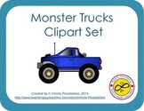 Monster Trucks Clipart Set