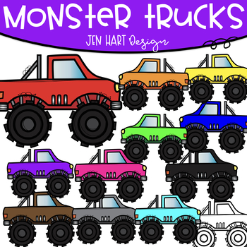 Monster Trucks Free Clipart Jen Hart Clip Art By Jen Hart Design