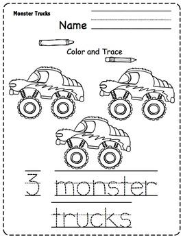 Monster Trucks Printable