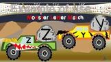 Monster Trucks Uppercase and Lowercase Alphabet Letter Match Up