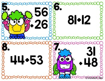 Monster Two-Digit Addition with and without Regrouping