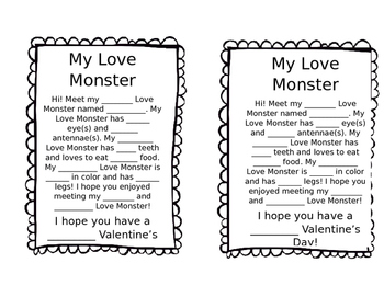 Monster Valentine Bags