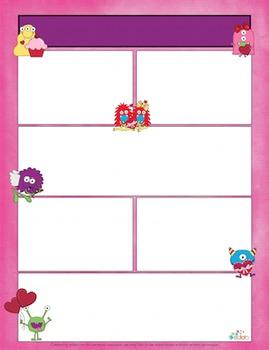 Monster Valentine Newsletter for Word