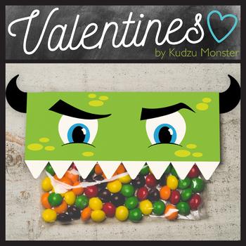 Monster Valentine Topper Green