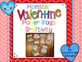 Monster Valentine's Day Paper Bags- Craftivity