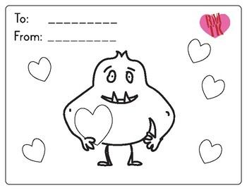 Monster Valentine S Day Card Freebie By Real Men Teach