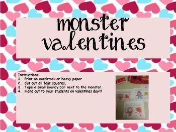 Monster Valentines