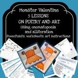 Monster themed Poem and Art pack (5 lessons on onomatopoei
