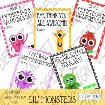 Monster Valentines, Valentines Day, Cute Monster Valentines, Cute Valentines