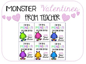 Monster Valentines from Teacher (Feat. Creative Clips)