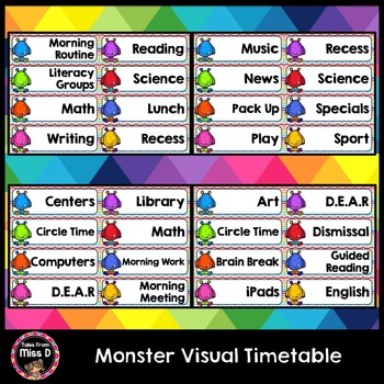 Monster Visual Timetable