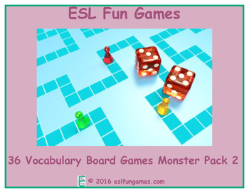 Monster Vocabulary Board Game Pack 2 Game Bundle
