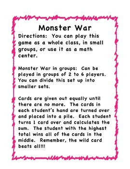 Monster Addition War
